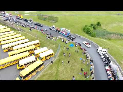 Pennsbury High school Drone view Prom