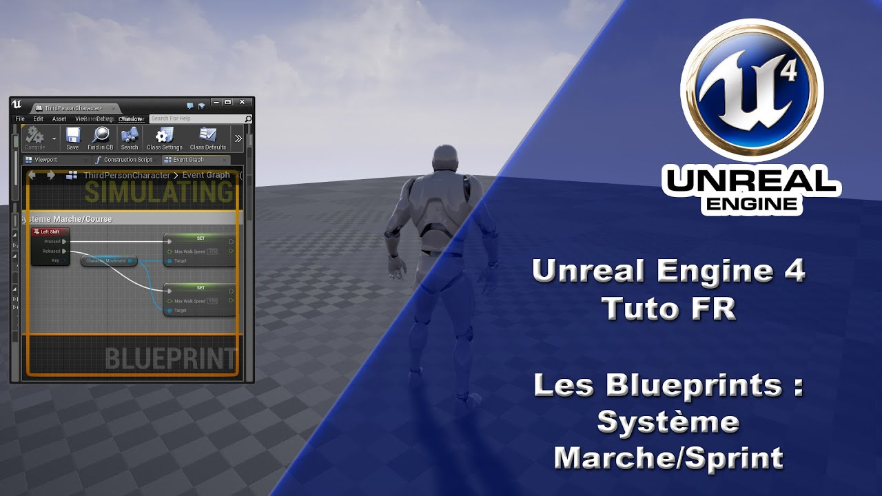 Ue4 tuto fr blueprint systme de marchesprint youtube ue4 tuto fr blueprint systme de marchesprint malvernweather Gallery