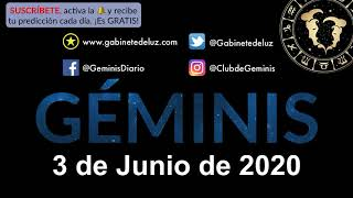 Horóscopo Diario - Géminis - 3 de Junio de 2020