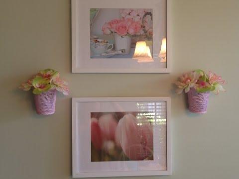 Wet Wednesday Vlog!  See my DIY Wall Flower Pot Art!  4/13/16