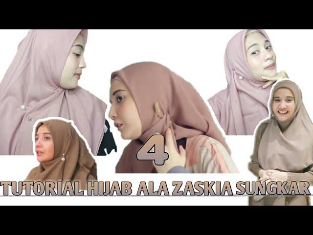 4 Tutorial Hijab Ala Zaskia Sungkar Ii Menggunakan Tuspin Youtube