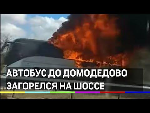 Автобус загорелся около аэропорта Домодедово