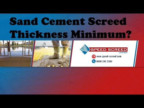 Sand Cement Screed