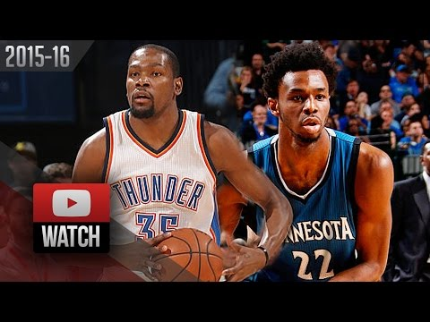 Andrew Wiggins vs Kevin Durant Duel Highlights (2016.03.11) Thunder vs Timberwolves - SICK!