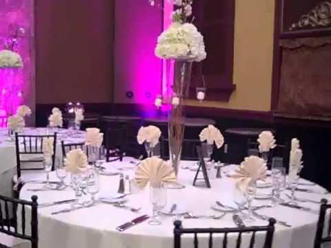 wedding centerpieces hydrangeas and cherry blossom
