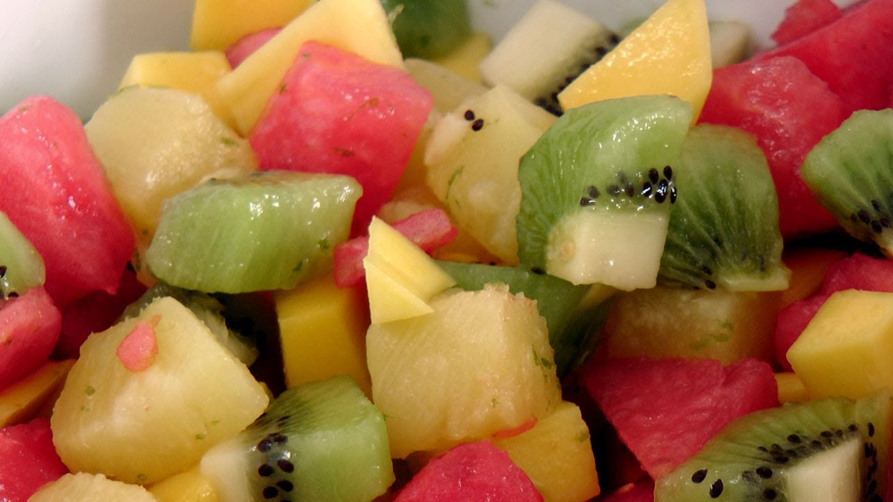 Tropical Fruit Salad - Recipe by Laura Vitale - Laura in the Kitchen ...