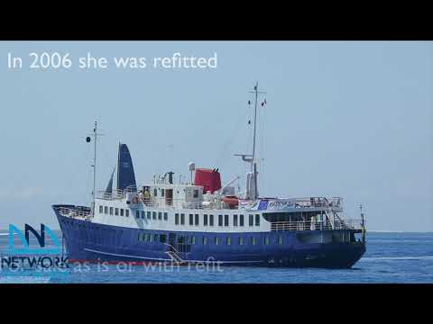 Small cruise ship project for sale or Floating restaurant for sale