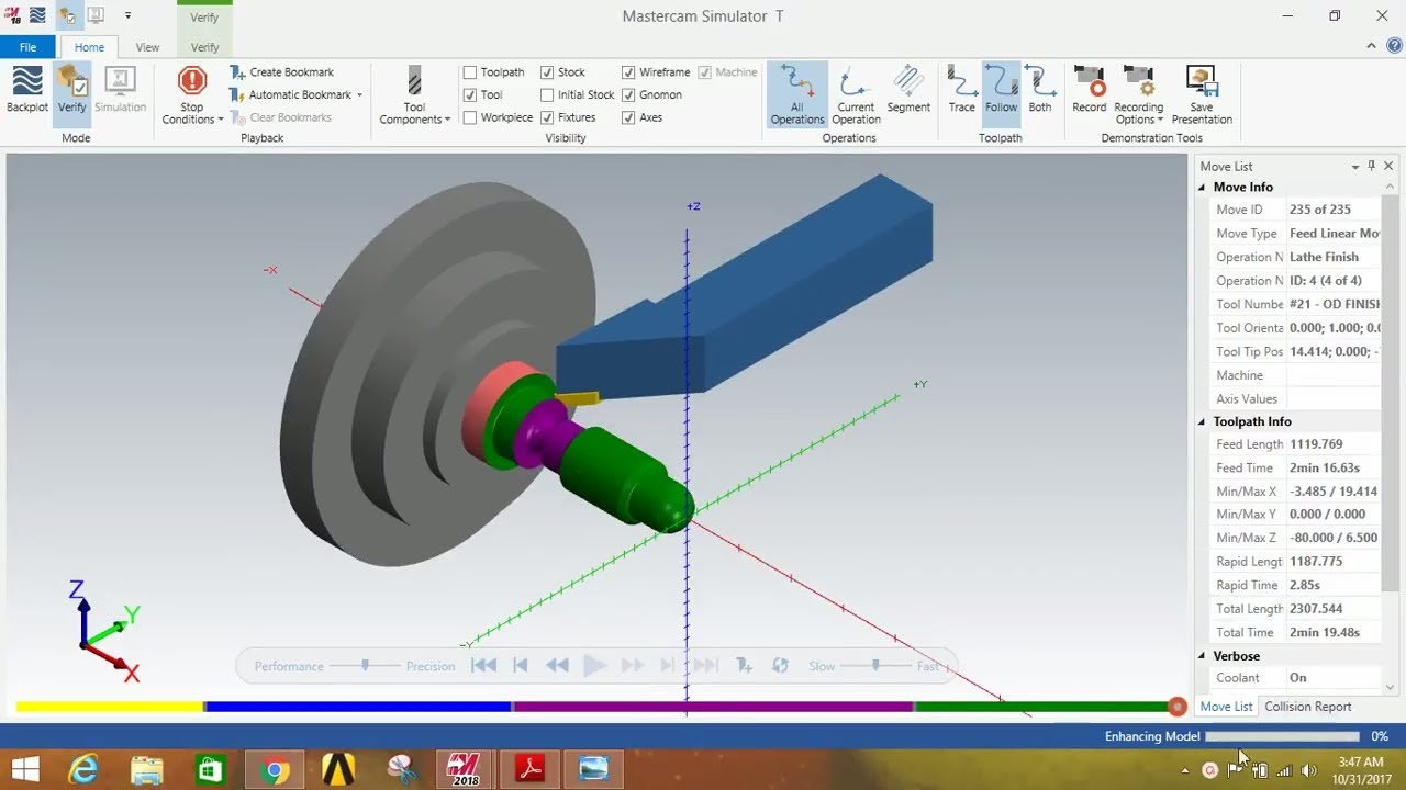 Lathe operations by using mastercam 2018 || LATHE OPERATIONS IN
