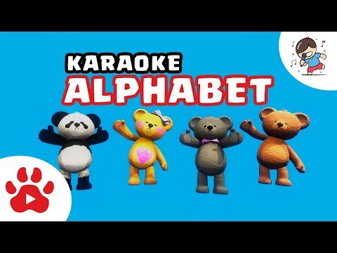 ALPHABET SONG [Karaoke] | Teddy Bear dances in the colourful Easter Egg Village