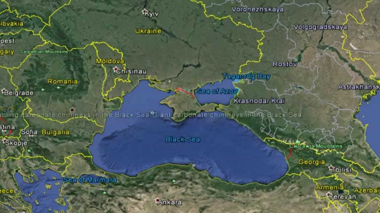 Black Sea Map Black Sea map   YouTube Black Sea Map