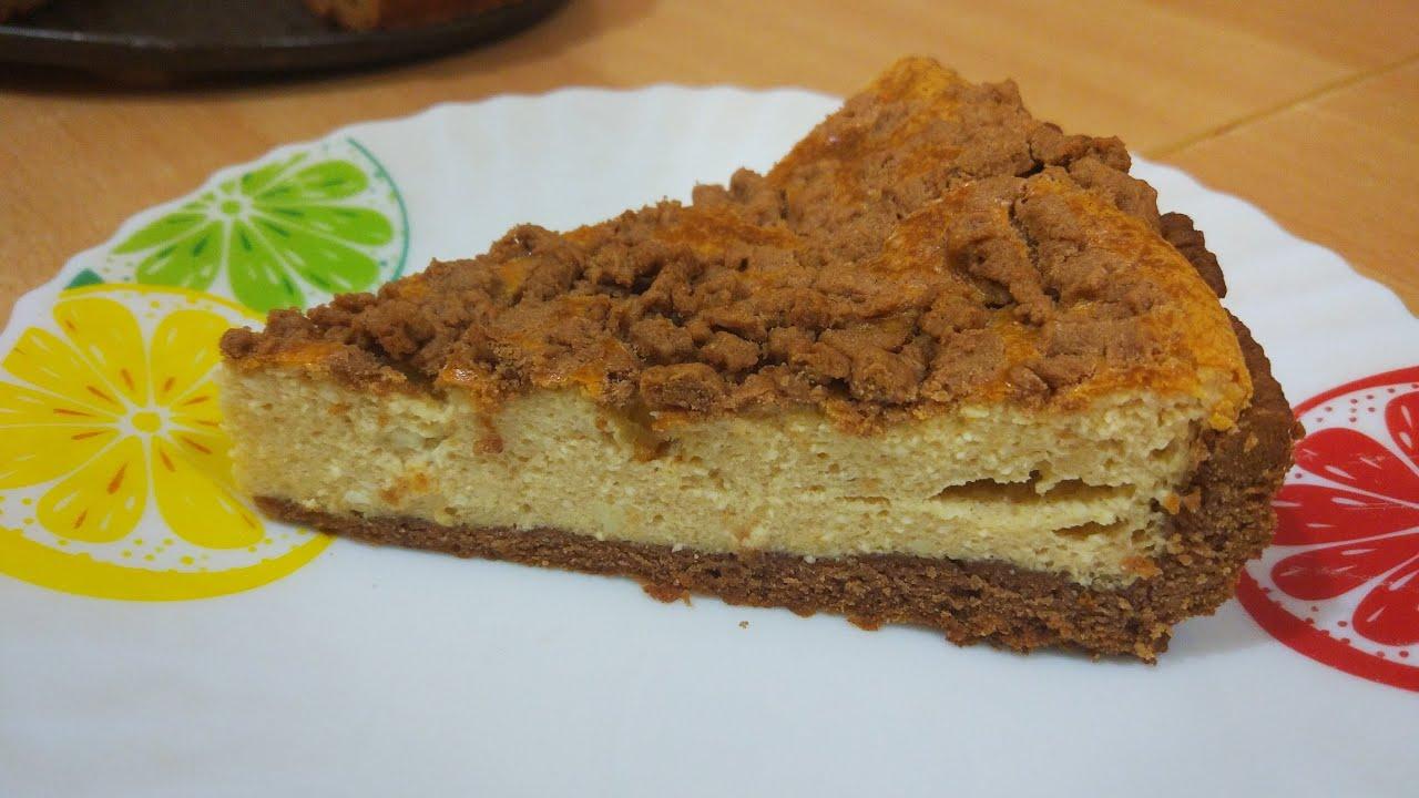 Творожный пирог с вареной сгущенкой