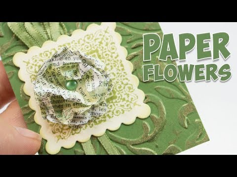 Paper flower embellishment from book pages