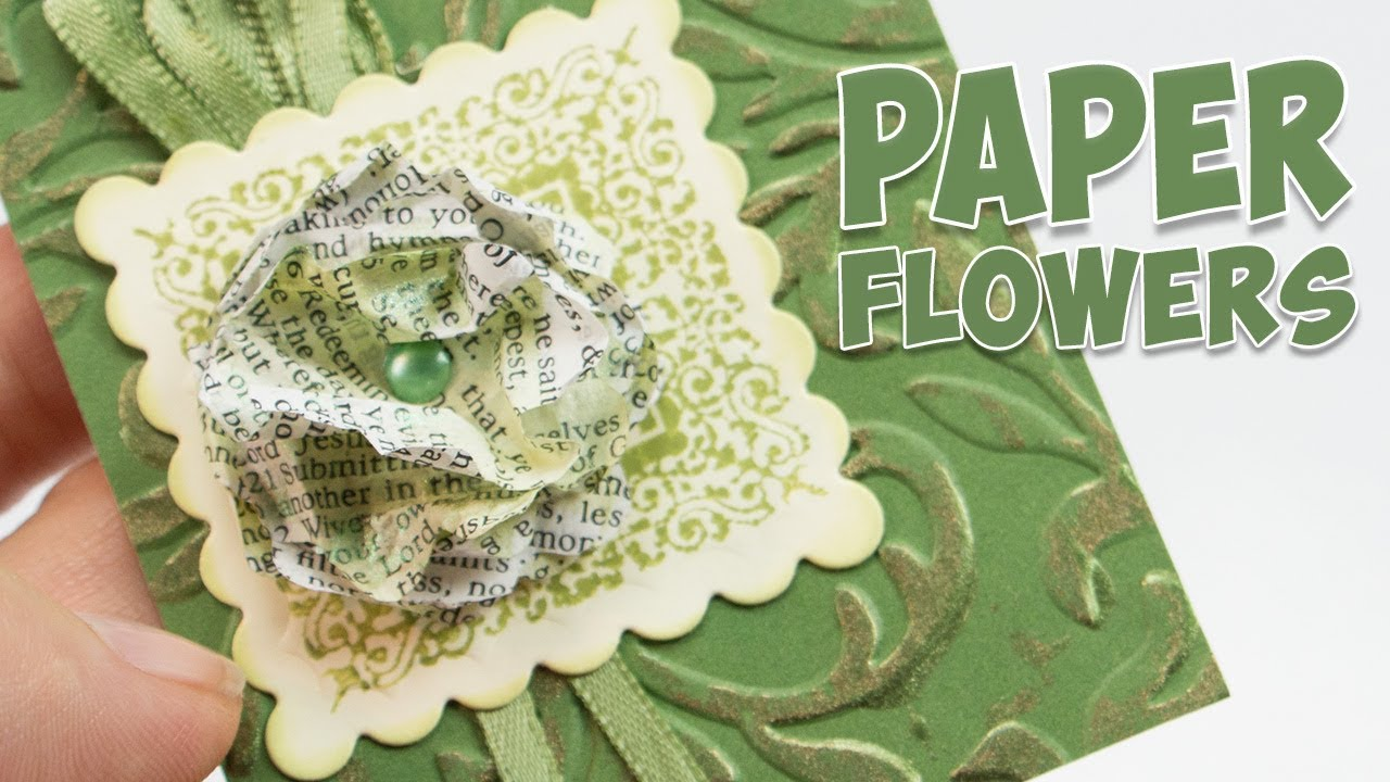 Paper flower embellishment from book pages youtube paper flower embellishment from book pages mightylinksfo