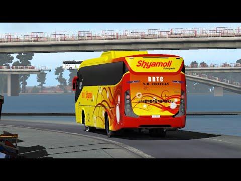 Shyamoli BRTC Multi Axle   On night going to Dhaka-Chattagram High way   ETS2   M.I.Gaming77  