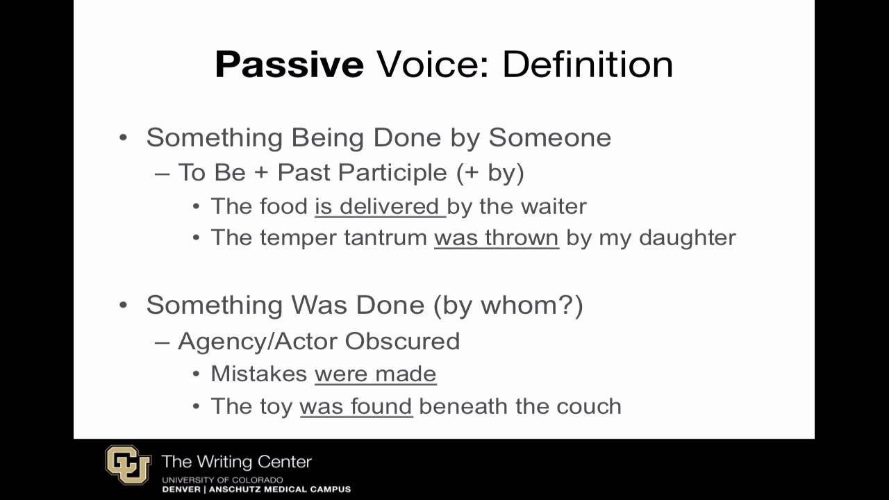Passive Voice in Scientific Writing: A Review