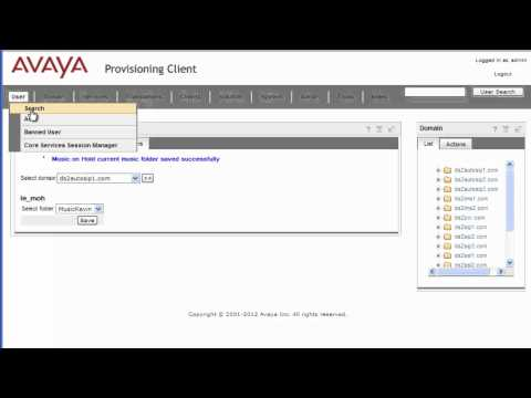 How to Configure Music on Hold Folders on Avaya AS5300