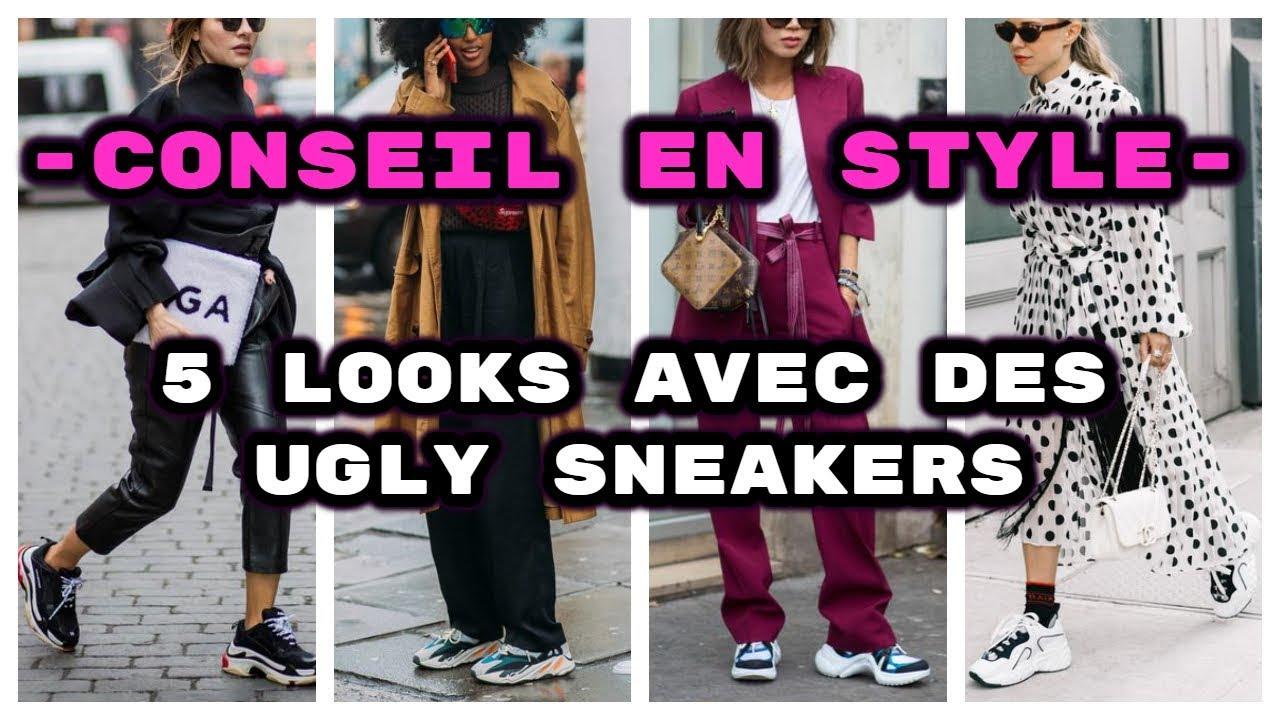 Comment porter des SNEAKERS ? 5 façons de porter les Ugly Dad Shoes.