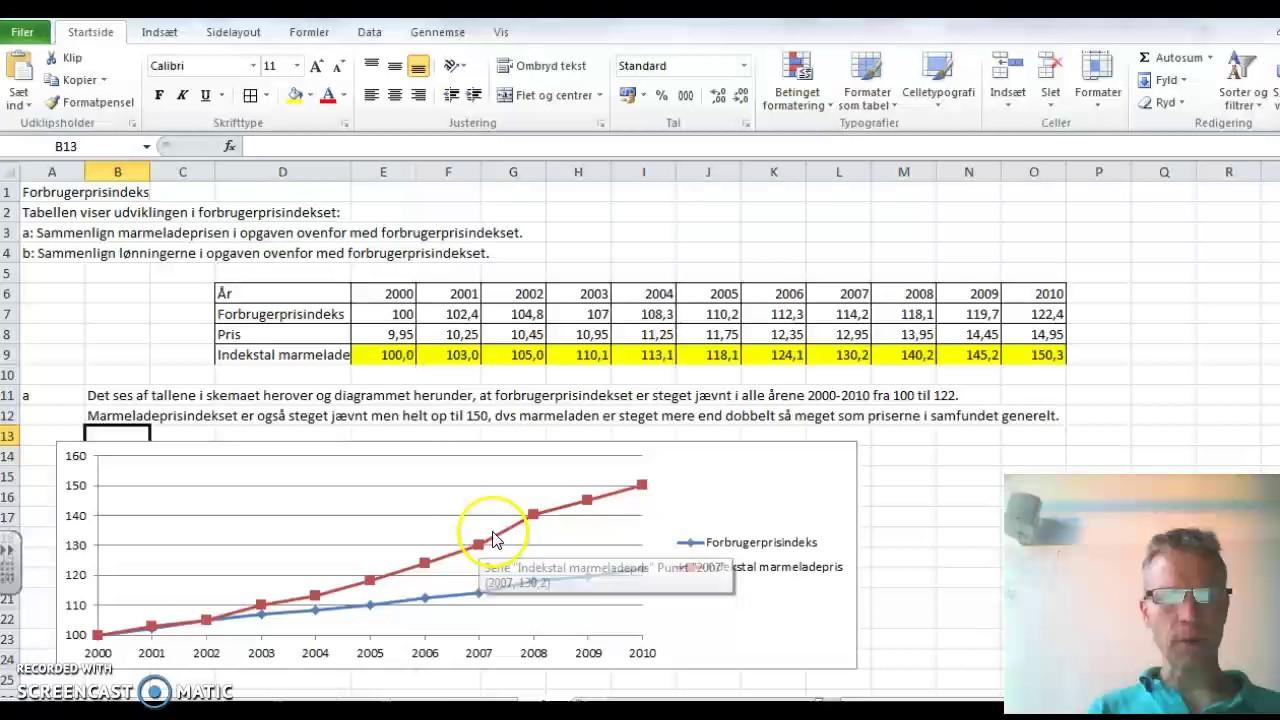 MAT FED Statistik s. 14 opg. 7 Indekstal del 1/2