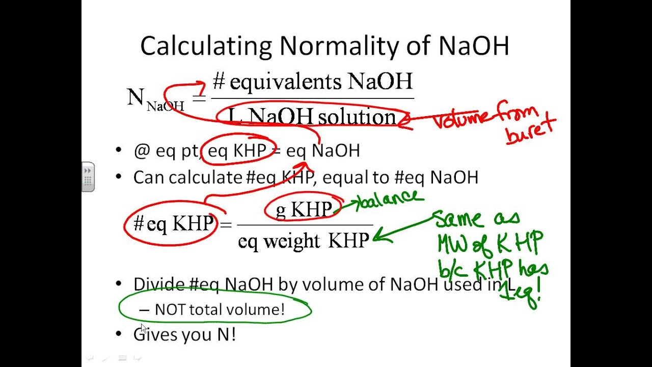 Standardization of naoh with khp lab report