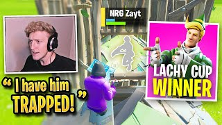 Tfue *SHUTS UP* Pros by PUNISHING Them in LACHY CUP! (Fortnite)