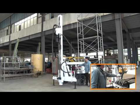 HF120W water well drilling rig operation