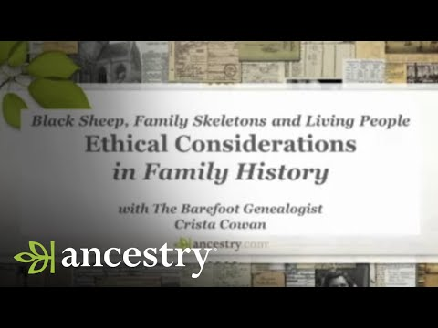 Ethical Considerations in Family History