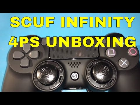 SCUF INFINITY 4PS PRO SOFT TOUCH BLACK CONTROLLER UNBOXING