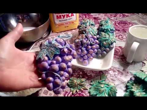соленое тесто рецепт, гроздь винограда