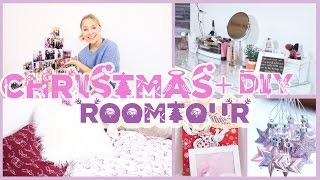 CHRISTMAS ROOM TOUR, BEDROOM TOUR + DIY DECORATION