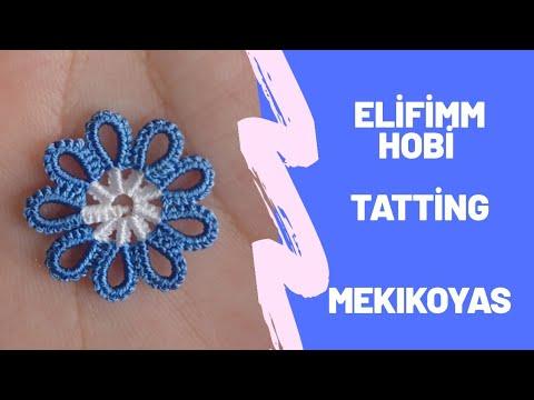 mekık oyası 9lü keloglan modeli (#mekıkoyaları #havlukenarı #yazmakenarı #tattıng #タティングレース