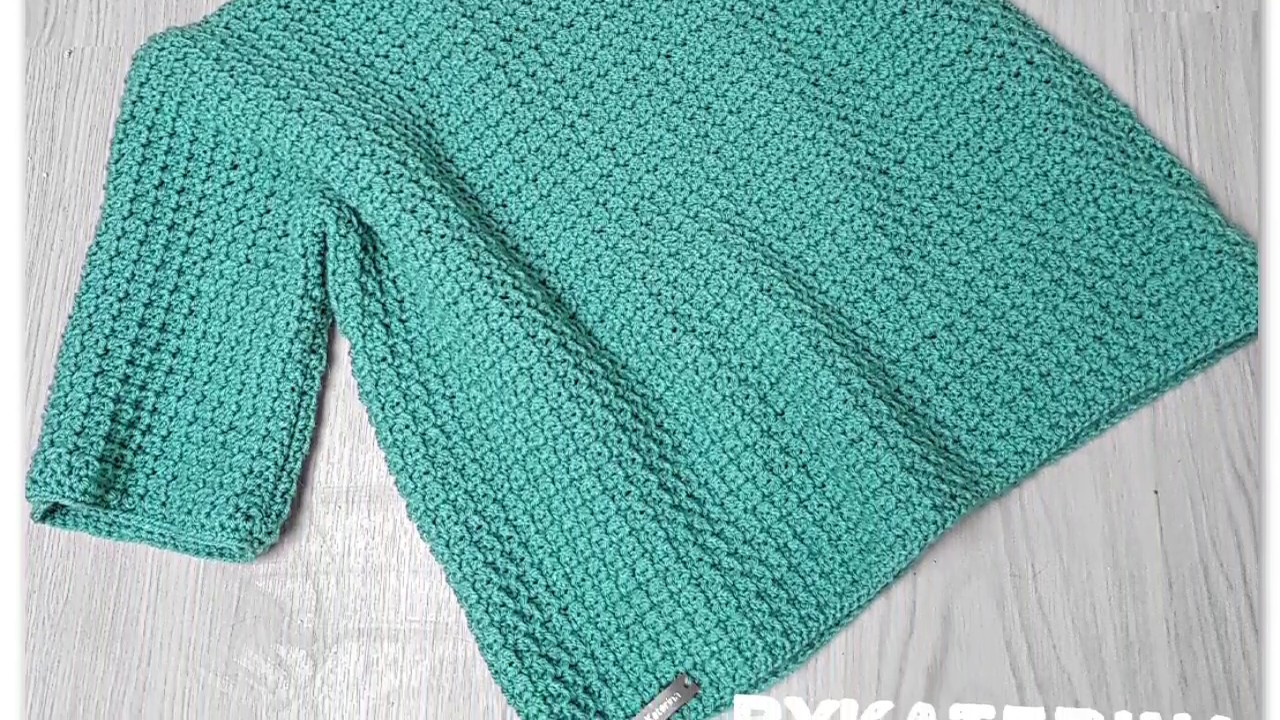 Fancy Crocheted Sweater Ideal For Beginners So Easy And So