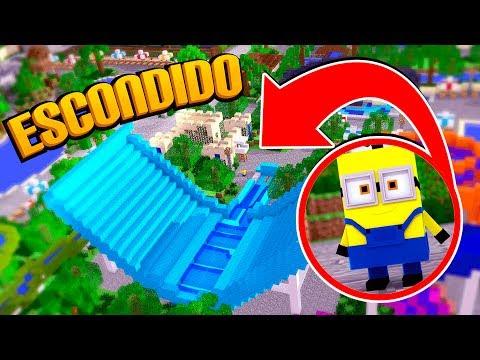 Minecraft: O MINION SE ESCONDEU NO PARQUE AQUÁTICO !! (ESCONDE - ESCONDE)