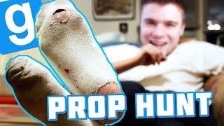 POKAZUJE SKARPETY NA NAGRANIU! | Garry's mod #789 - Prop Hunt [#139] (With: EKIPA)