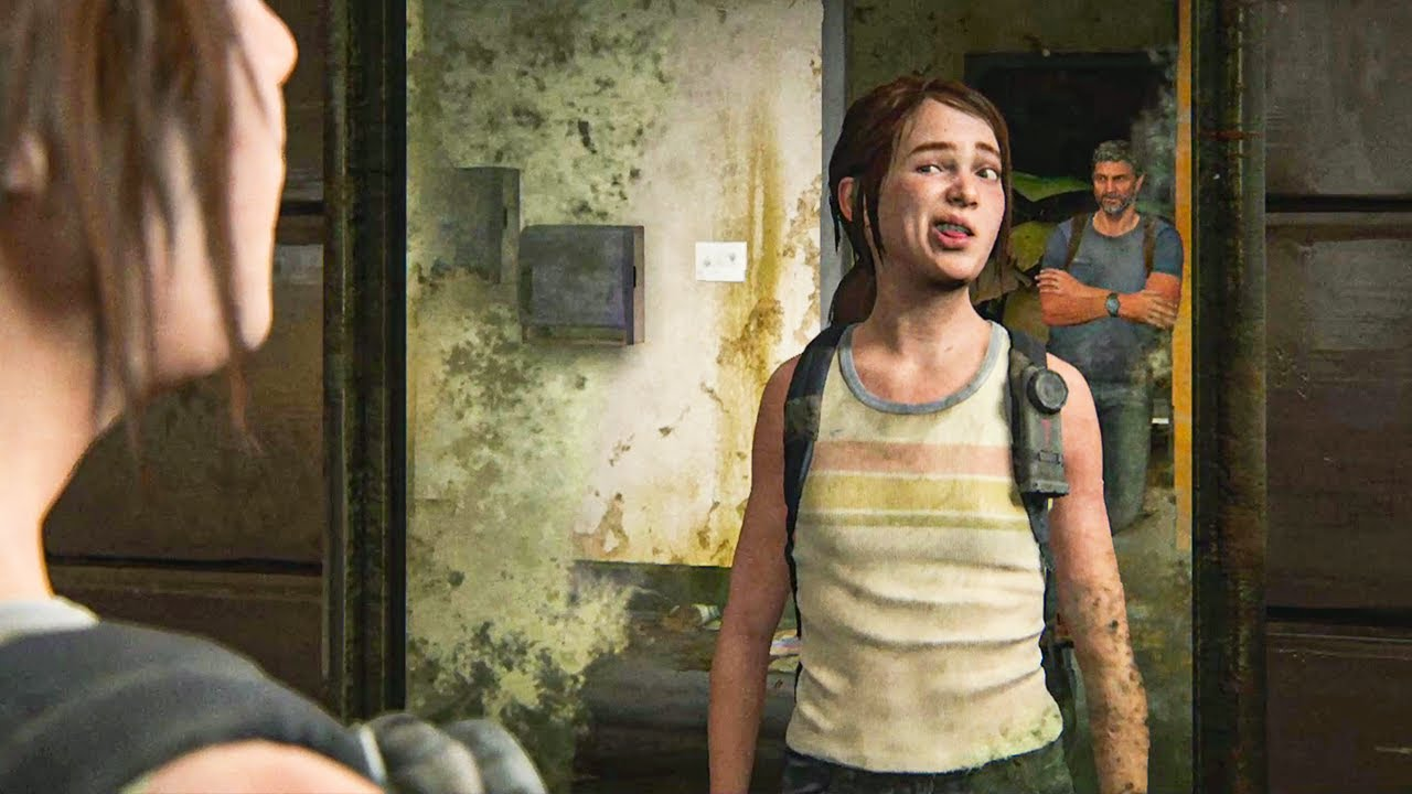 The Last of Us 2 - Ellie makes funny faces - YouTube