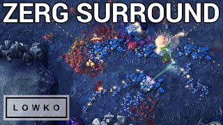 StarCraft 2: HUGE SURROUND! (Zerg Gameplay & Strategy)