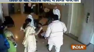 Video: BJP Leader, Woman Corporator Engage in Physical Fight in Daman - India TV