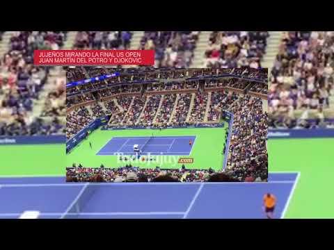 Jujeños alentaron a Juan Martín Del Potro en la final del US Open