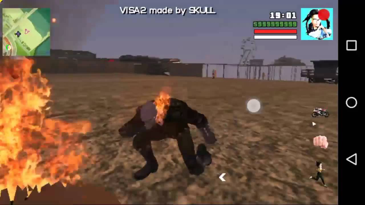 Gta San Andreas android ghost rider mod