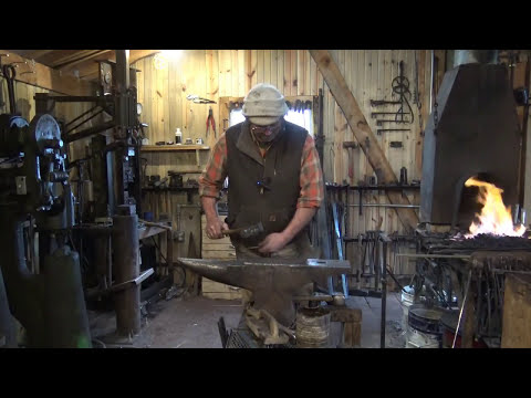 forging a strap hinge for a gate or door.  plus testing of various audio options