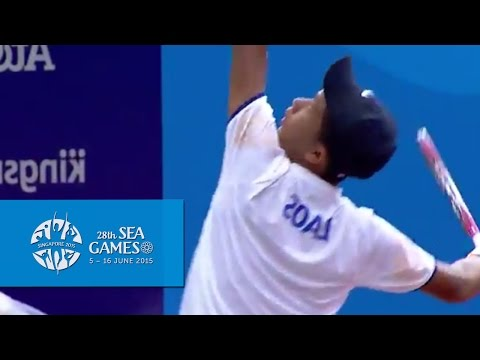 Tennis Men's Team Quarterfinal Indonesia vs Laos Match 3 (Day 1) | 28th SEA Games Singapore 2015