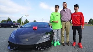 SURPRISING my SCHOOL TEACHER with LAMBORGHINI!!