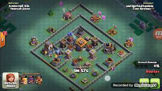 3 star in 7 max night village with barbarian | Clash of Clans |