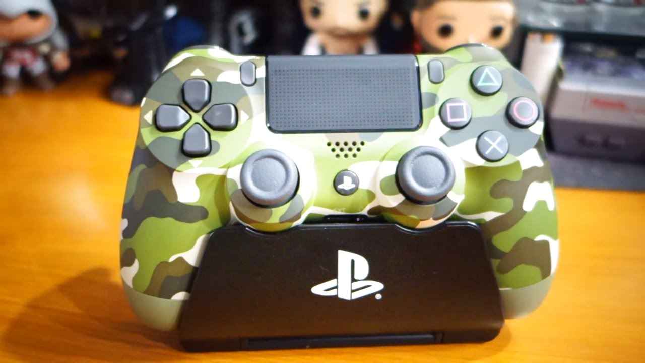 Playstation 4 Camouflage Green Dualshock 4 Controller Unboxing - YouTube