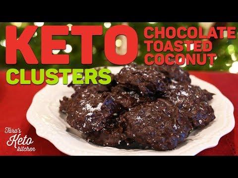 Keto Christmas Recipe | Dark Chocolate Toasted Coconut Clusters | Merry Keto Christmas!