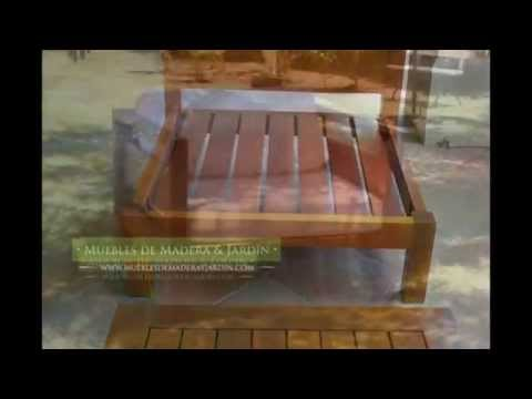 Sillones individuales muebles de madera y jard n com for Banco madera jardin carrefour