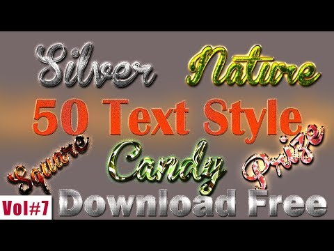 Top 50 Text Style For Photoshop Download Free Vol#7 [desimesikho] 2018