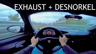porsche boxster 986    agency power exhaust    powerfull sound with zoom h1 gopro