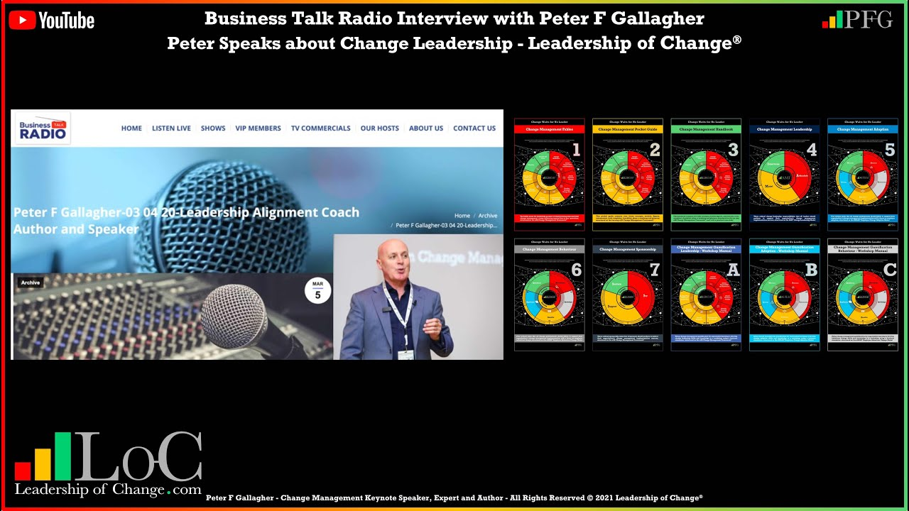 Business Talk Radio - Interview with Peter F Gallagher
