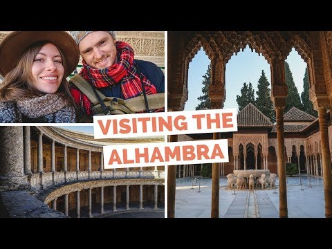 Visiting Alhambra in Granada, Spain