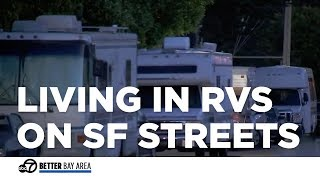 Bay Area residents frustrated over RVs parked on street where homeless live